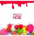 Pink grunge background vector image vector image