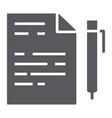 quiz glyph icon school and education exam sign vector image vector image