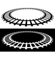 railway railroad silhouettes with distortion vector image
