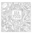 sea food design concept for shop restaurant vector image vector image