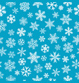 seamless pattern of snowflakes vector image