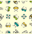 seamless pattern with colored vr elements vector image vector image