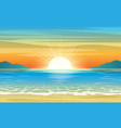 seascape sunset background vector image vector image