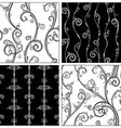 Set of seamless vintage patterns vector image vector image