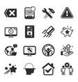 set technology icons such as monitor repair vector image vector image