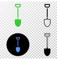 shovel eps icon with contour version vector image