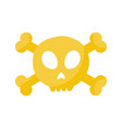 skull and crossbones flat icon vector image vector image