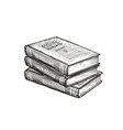 stack books literature education concept in vector image