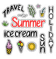 summer set of isolated cute colorful patches in vector image vector image