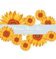 Sunflower Summer poster card vector image