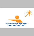 swimming from collection the sports vector image vector image