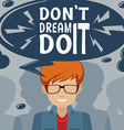 Inspiration poster with text vector image