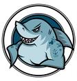 emblem shark vector image