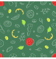 Seamless pattern of ingredients for pizza vector image