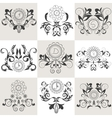 Set of emblems floral ornament vector image