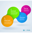 step by step infographic presentation template vector image