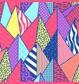 vintage memphis geometric fashion seamless pattern vector image