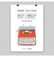 retro typewriter poster vector image