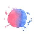watercolor splash on white background vector image