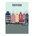 Amsterdam city vector image