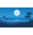 At night beach scenery beautiful vector image vector image