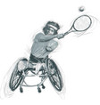 athletes with physical disabilities - wheelchair vector image vector image