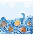 Beautiful sea wave vector image vector image