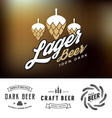 Beer logo and label design vector image vector image