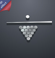 Billiard pool game equipment icon symbol 3D style vector image