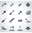 black carpentry icon set vector image vector image