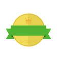 blank gold circular premium vintage badge graphic vector image vector image
