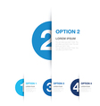 blue option background vector image vector image
