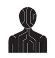body digital structure black concept icon vector image vector image