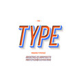 bold font 3d colorful style vector image vector image