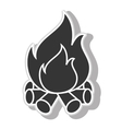 Bonfire flammes icon design vector image