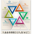 Business infographic chart template six triangle vector image vector image