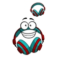 Cartoon DJ headset vector image vector image