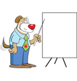 Cartoon Dog with a Chart vector image