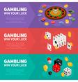 casino isometric design concept templates vector image