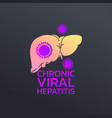 chronic viral hepatitis cirrhosis icon design vector image vector image