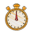 chronometer doodle vector image vector image