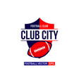 city football logo template design vector image vector image