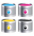 cmyk color pain bucket vector image