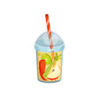 cocktail with carrot apple celery and lime in vector image vector image