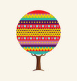 colorful cute geometric tree concept vector image vector image