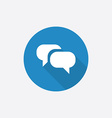 Conversation Flat Blue Simple Icon with long vector image vector image