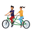 Couple in double bike