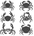crabs set vector image vector image