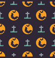 cute halloween seamless pattern background design vector image