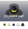 Cylinder hat icon in different style vector image vector image